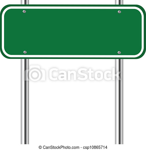 Vector Clip Art of Blank green traffic sign - Blank green traffic ...