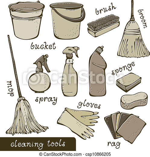 Cleaning tools collection - csp10866205