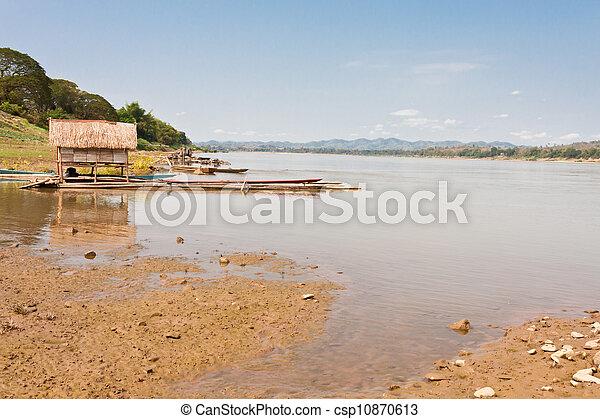 Mekong between Thailand and Laos - csp10870613