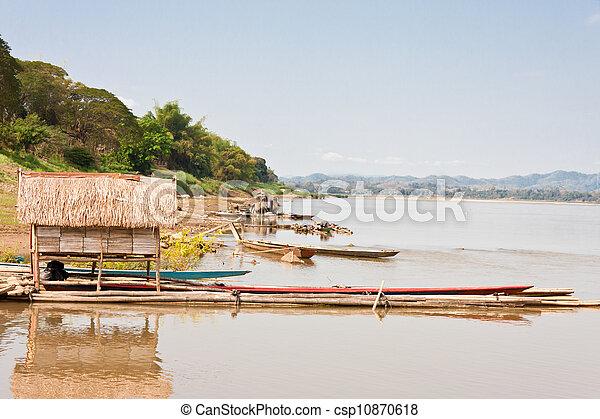 Mekong between Thailand and Laos - csp10870618
