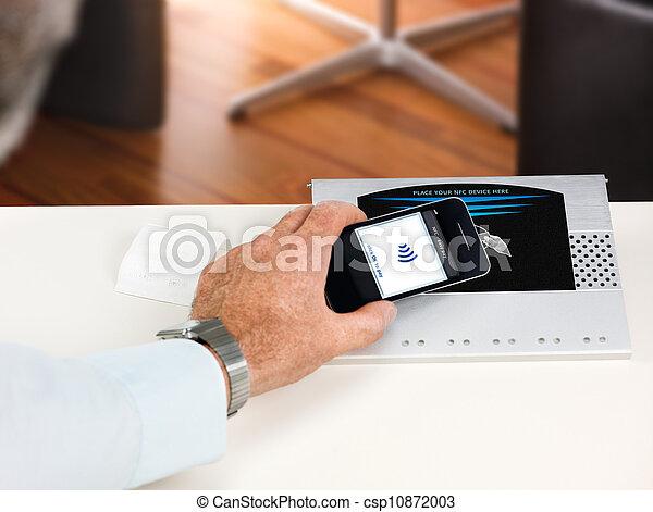 NFC - Near field communication / contactless payment - csp10872003