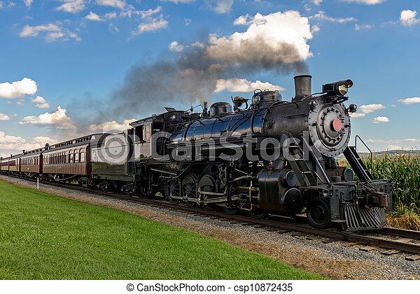 train, vapeur - csp10872435