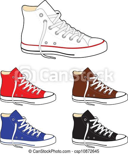 Sneakers (gumshoes) - csp10872645