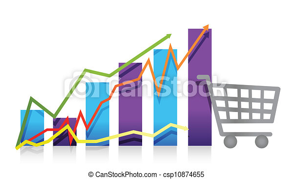Sales growth business chart - csp10874655