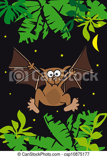 morcego, vampiro, animal, noturna, asa - csp10875177