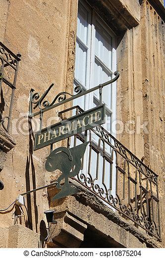 viejo, farmacia, símbolo, francia - csp10875204