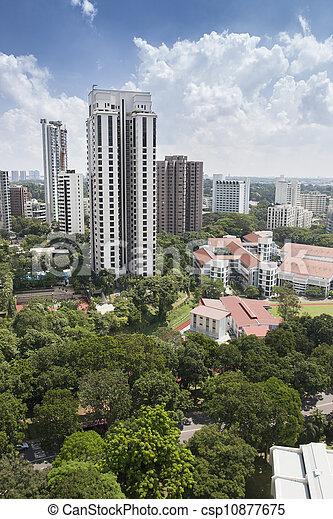 Residential area in Singapore - csp10877675