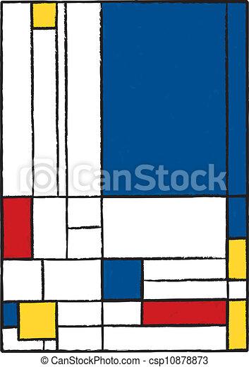 Illustrations vectoris es de r sum moderne peinture for Peinture graphique