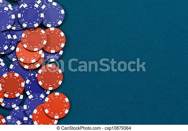 Gambling chips background - csp10879364