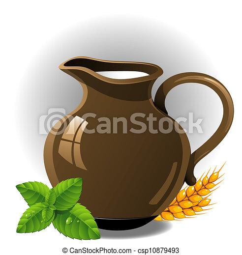 Eps vectores de leche jarra jarra de leche vector for Jarra leche