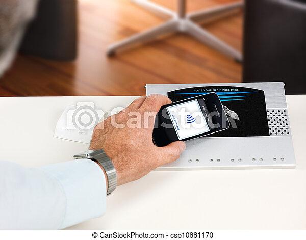 NFC - Near field communication / contactless payment - csp10881170