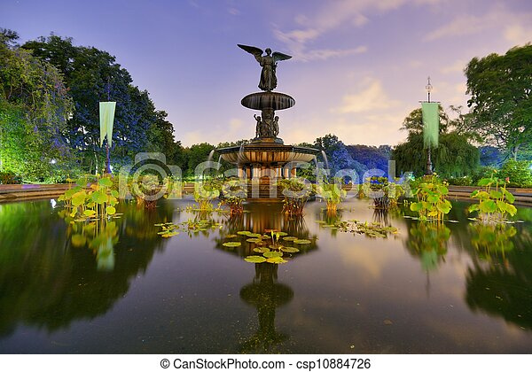 Central Park Fountain - csp10884726