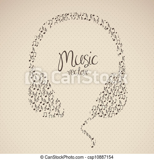 illustration of headphones - csp10887154