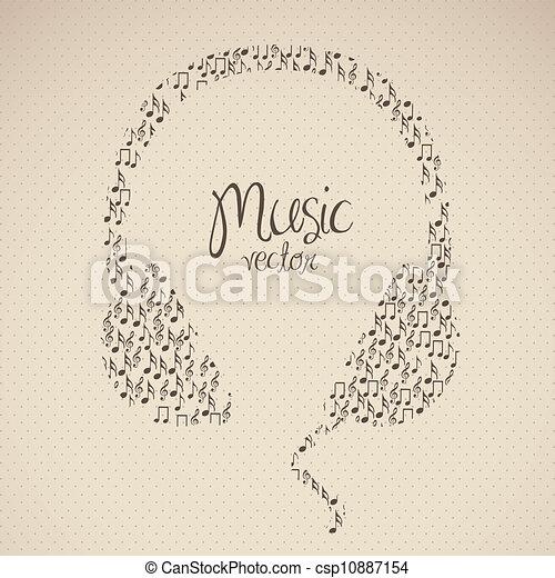 illustration of headphones - csp10887154