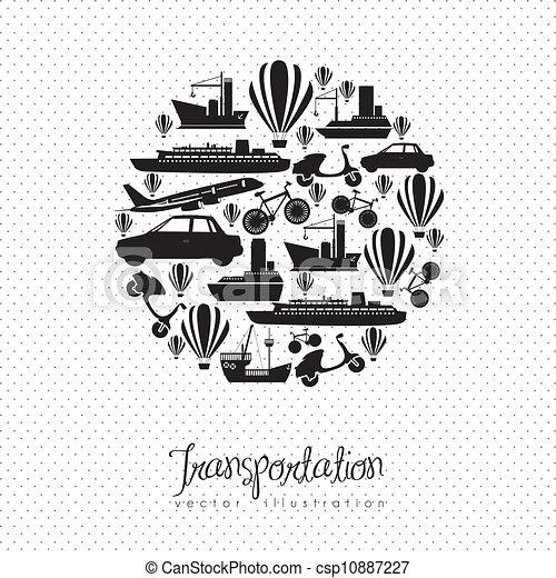 Transportation icons - csp10887227