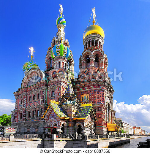 Church of the Saviour on Spilled Blood, St. Petersburg, Russia - csp10887556