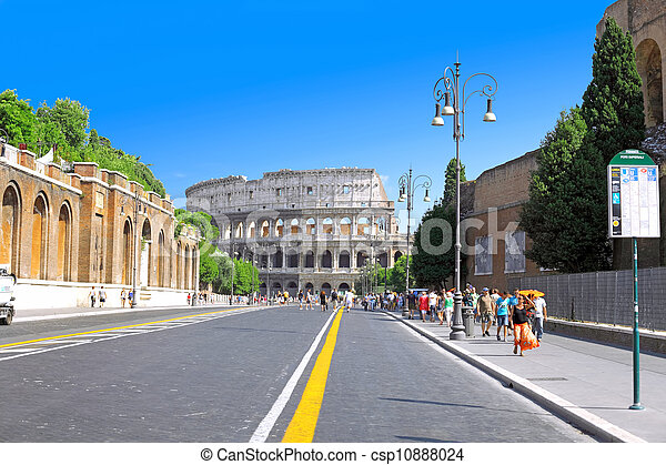 The Colosseum, the world famous landmark in Rome. - csp10888024