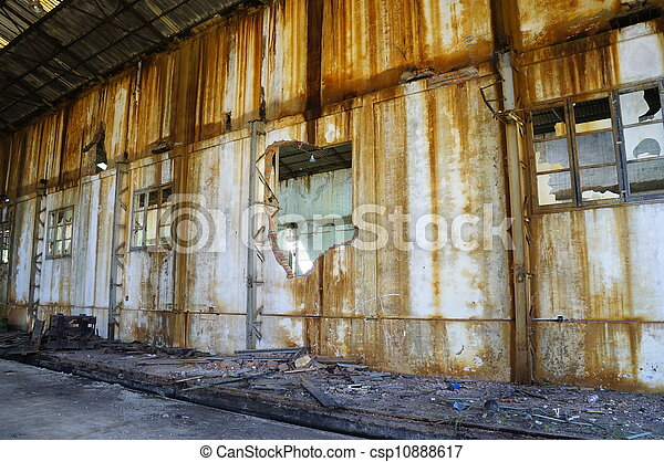 Old factory ruins  - csp10888617