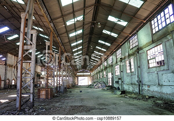 Abandoned Industrial interior - csp10889157