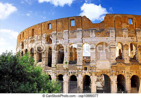 The Colosseum, the world famous landmark in Rome. - csp10889377