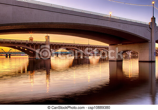 Mill Avenue Bridges in Phoenix - csp10889380