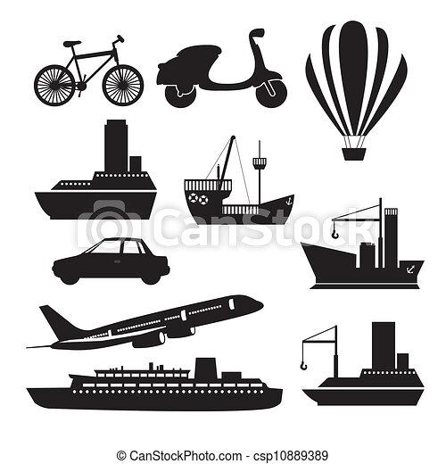 transportation icons - csp10889389