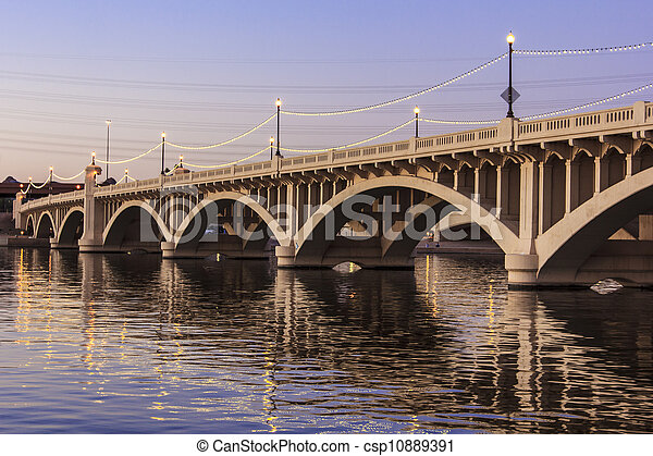 Mill Avenue Bridges in Tempe - csp10889391