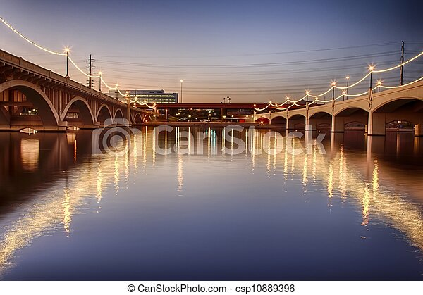 Mill Avenue Bridges in Phoenix - csp10889396