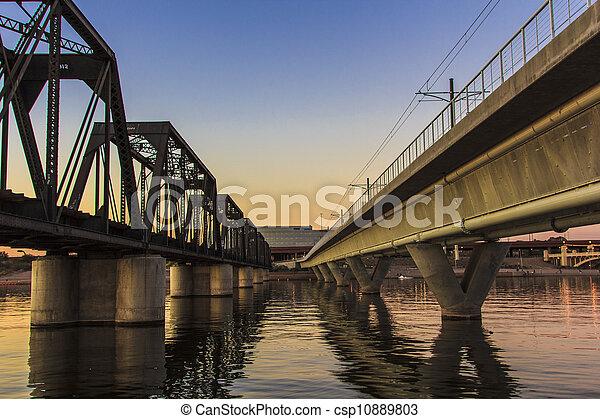 Mill Avenue Bridges in Phoenix - csp10889803