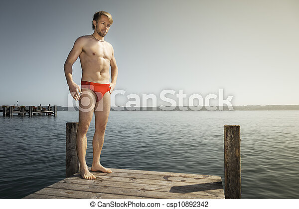 man at the lake - csp10892342