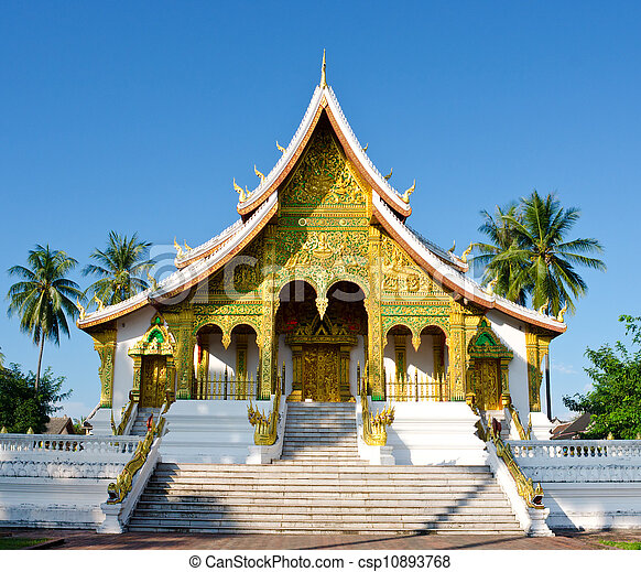 Temple in Luang Prabang, Laos - csp10893768