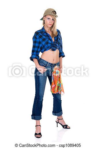 Attractive femme fatale - csp1089405
