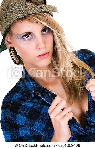 Attractive femme fatale - csp1089406