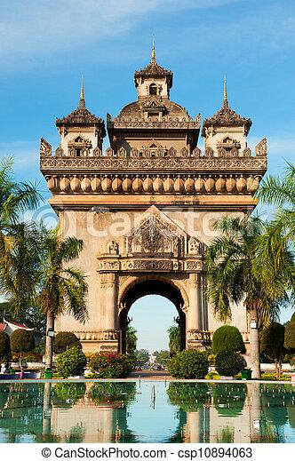 Patuxai Monument, Vientiane, Laos. - csp10894063