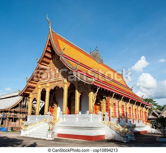 Buddhist Temple in Laos - csp10894213