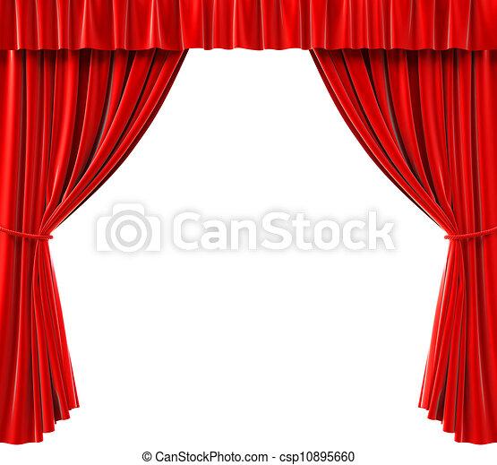 Stock de ilustracion de cortinas rojo cortinas en un - Dibujos para cortinas ...