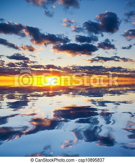 Beautiful sunset - csp10895837