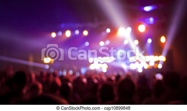 Concert audience blurred background - csp10899848