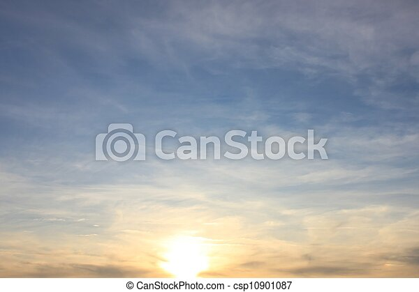 Soft Gentle Sunset - csp10901087