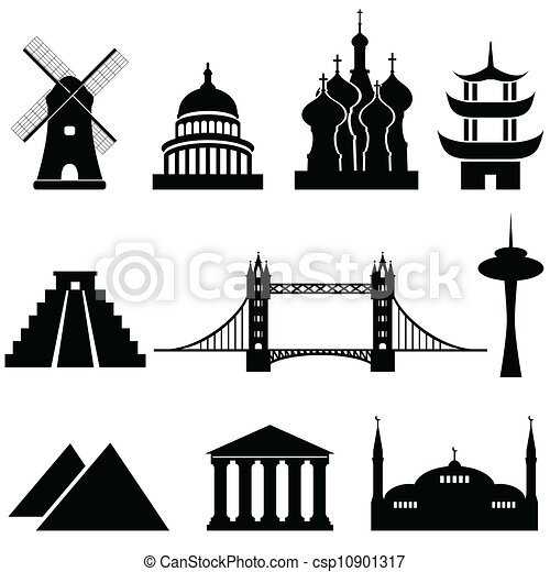 World landmarks and monuments - csp10901317