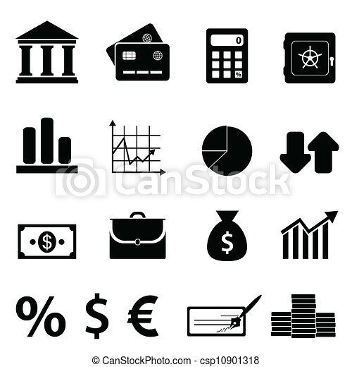 Finance, business and banking icons - csp10901318