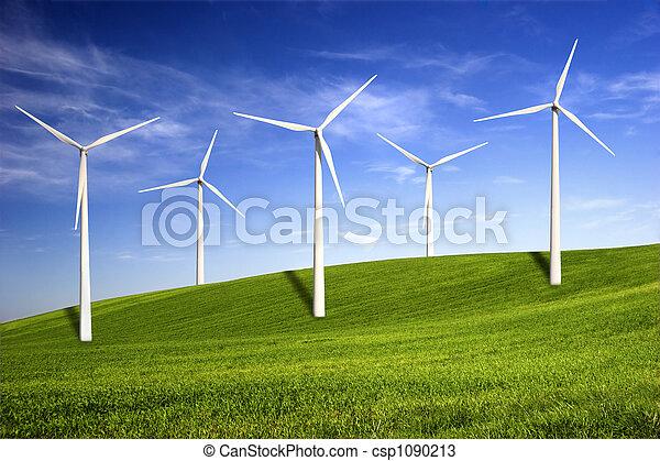 turbine, vento - csp1090213