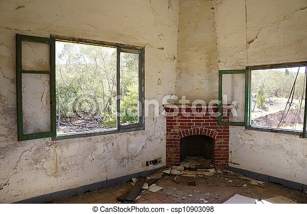 Old fireplace - csp10903098