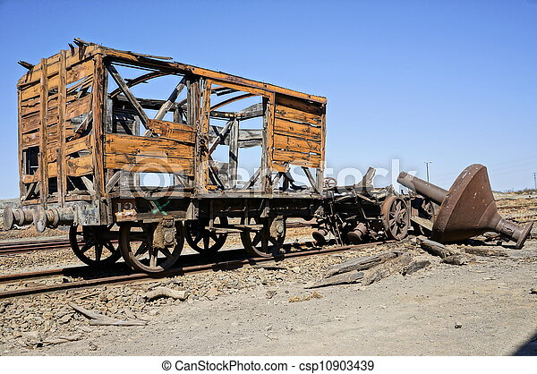 Old train of Spain. - csp10903439