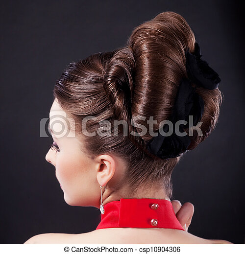 Festive hairstyle and holiday coiffure - csp10904306