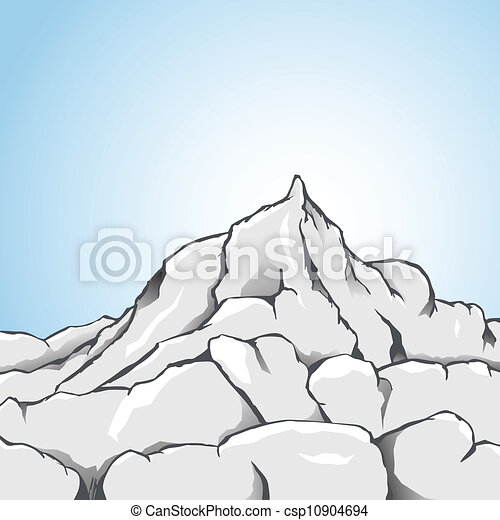 Vecteurs eps de montagne rocher vecteur illustration de a rocheux csp10904694 - Rocher dessin ...