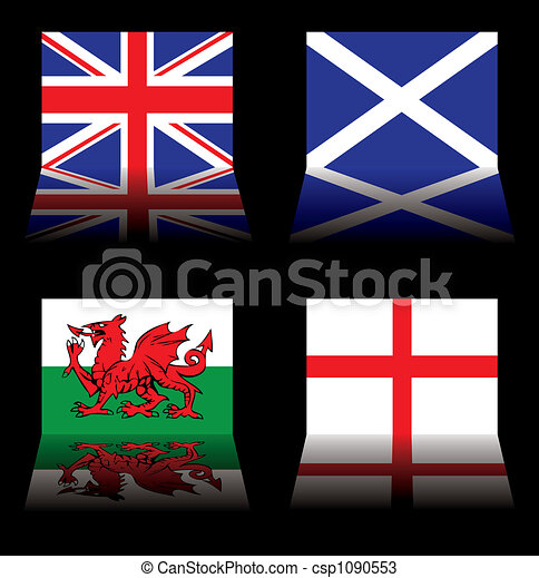 great britain flags - csp1090553