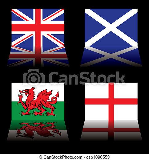 great britain flags - csp1090553