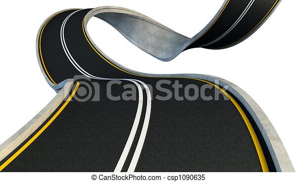 bent highway  - csp1090635