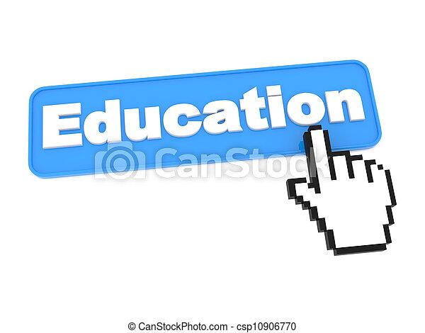 Education Web Button. - csp10906770